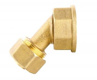 黄铜铝塑管45°燃气表接头